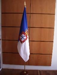 Bandeira com suporte