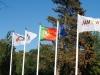Bandeiras em mastro
